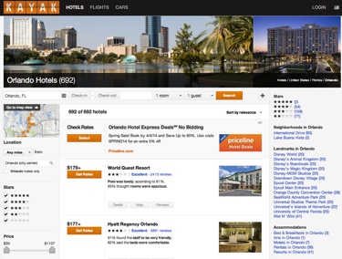 Hotel metasearch marketing example