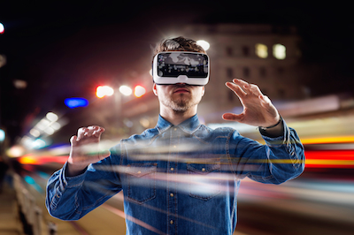 8 Excellent Insights Into Ai and the Changing Customer Journey: Customer using VR goggles to explore a virtual world