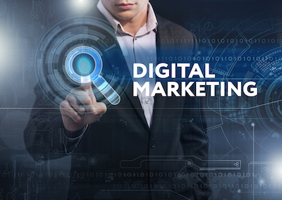 What Digital Means for the Future of Brands (Thinks Out Loud Episode 206) - Man using touchscreen to interact with brand