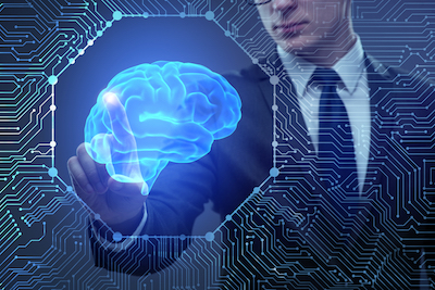 AI won't steal your job; smart people using AI will: Man interacting with artificial intelligence